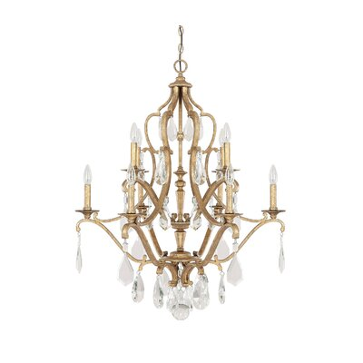 Destrey 10-Light Candle-Style Chandelier Finish: Antique Gold