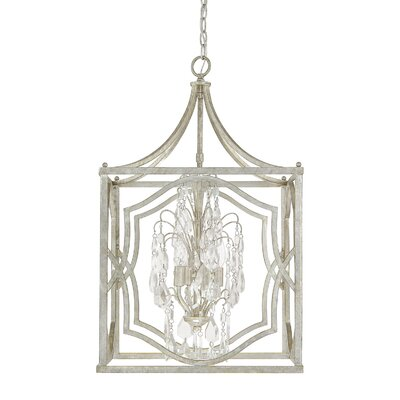 Destrey Traditional 4-Light Foyer Pendant Finish: Antique Silver