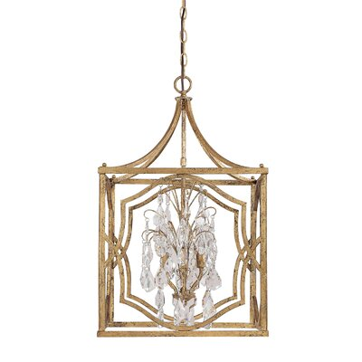 Destrey Traditional 4-Light Foyer Pendant Finish: Antique Gold