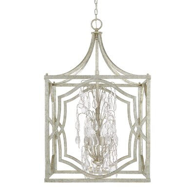 Destrey 6-Light Foyer Pendant Finish: Antique Silver