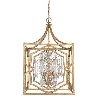 Destrey 6-Light Foyer Pendant Finish: Antique Gold