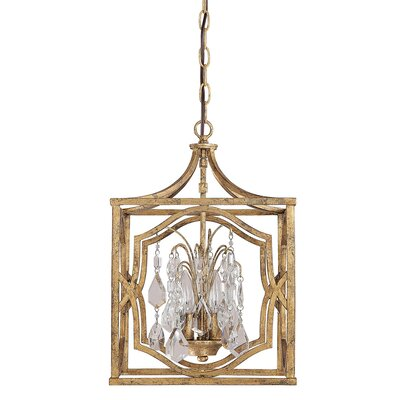 Destrey 3-Light Foyer Pendant Finish: Antique Gold