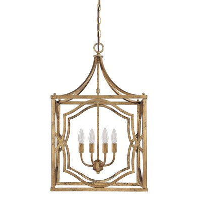 Destrey 4-Light Foyer Pendant Finish: Antique Gold