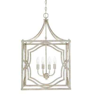 Destrey 4-Light Foyer Pendant Finish: Antique Silver