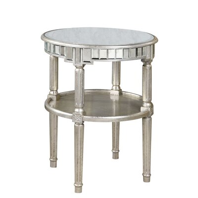 Rabia End Table Finish: Gold & Clear Mirror
