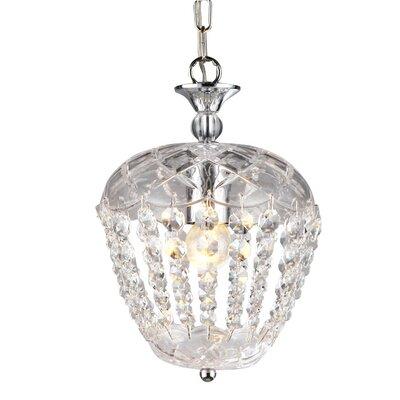 Edmundo 1-Light Crystal Pendant