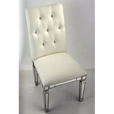 Rabia Side Chair Color: Silver