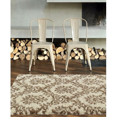 Flemming Cream/Brown Indoor/Outdoor Area Rug Rug Size: 5 x 7