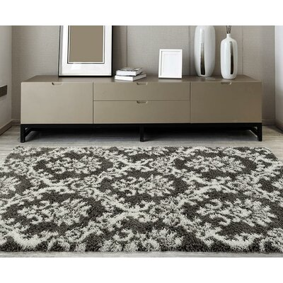 Flemming Gray/White Indoor/Outdoor Area Rug Rug Size: Rectangle 7 x 10