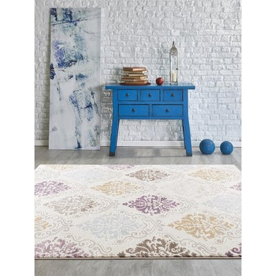 Flemming Cream Indoor/Outdoor Area Rug Rug Size: 2 x 3