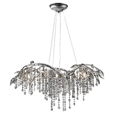 Rosalynn Crystal Chandelier Size: 6 Light