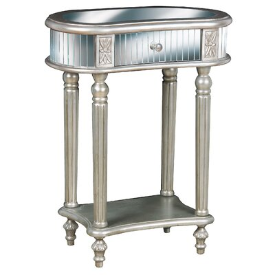 Achilles Mirrored End Table