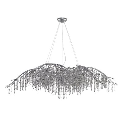 Destrie 24-Light Crystal Chandelier Finish: Mystic Silver