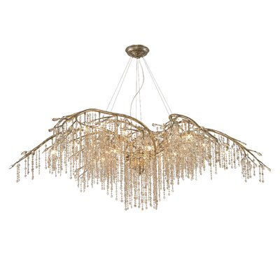 Destrie 24-Light Crystal Chandelier Finish: Mystic Gold
