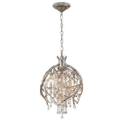 Destrie 3-Light Crystal Pendant Finish: Mystic Gold