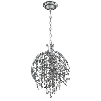 Destrie 3-Light Crystal Pendant Finish: Mystic Silver