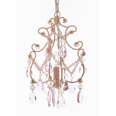 Alyson 1-Light Foyer Pendant Finish: Pink
