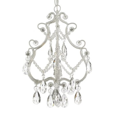 Roslyn 1-Light Foyer Pendant Finish: White