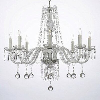 Evon 8-Light LED Crystal Chandelier