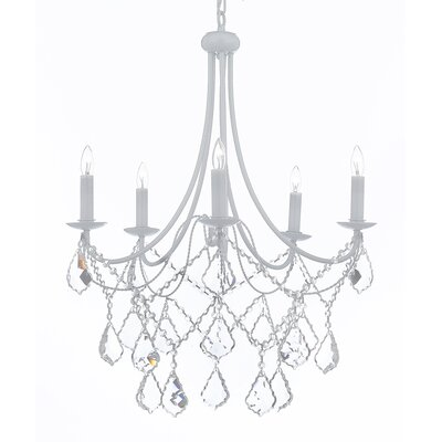Evon 5-Light Crystal Chandelier