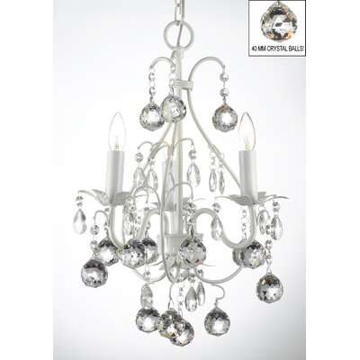 Evon 3-Light Balls Crystal Chandelier