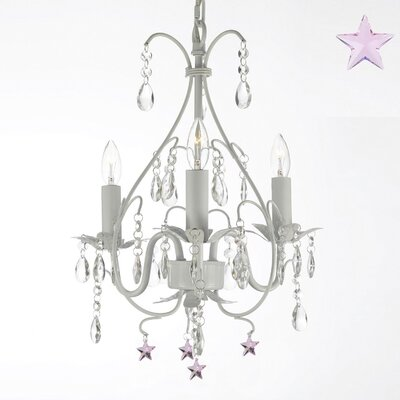 Evon 3-Light Stars Crystal Chandelier