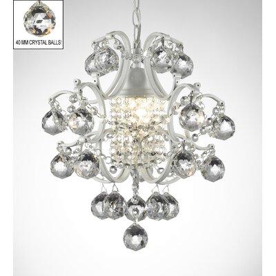 Evon 1-Light Crystal Ball LED Mini Pendant