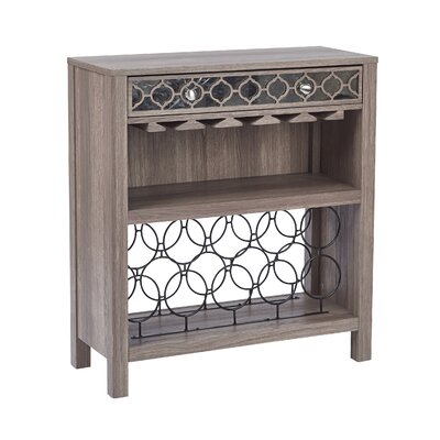 Samara Console Table with Mirror Floor Wine Bottle Rack