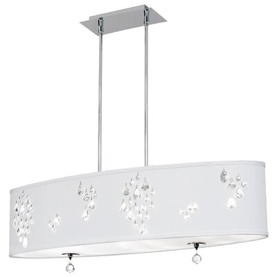 Stacie 8-Light Kitchen Island Pendant Shade Color: White