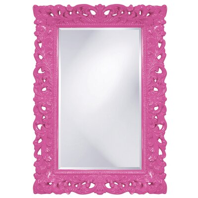 Luise Wall Mounted Rectangle Accent Mirror Finish: Hot Pink