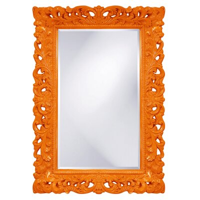 Luise Wall Mounted Rectangle Accent Mirror Finish: Orange