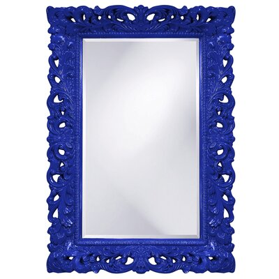 Luise Wall Mounted Rectangle Accent Mirror Finish: Royal Blue