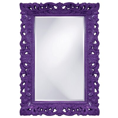 Luise Wall Mounted Rectangle Accent Mirror Finish: Royal Purple