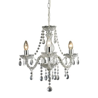 Cornelius 3-Light Crystal Chandelier