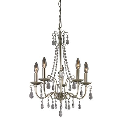 Rue 5-Light Crystal Chandelier