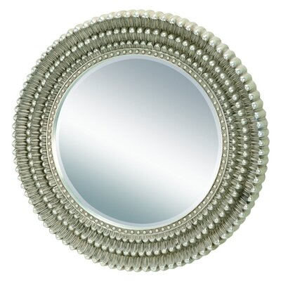 Round Silver and Gold Resin Mirror