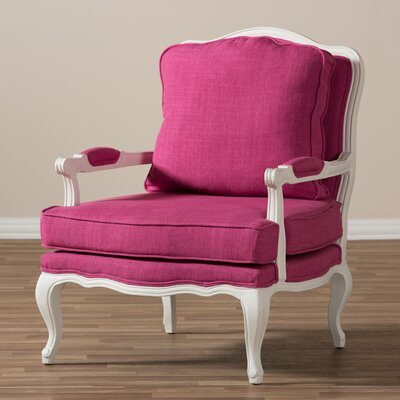Loughborough Antoinette Armchair Upholstery: Pink