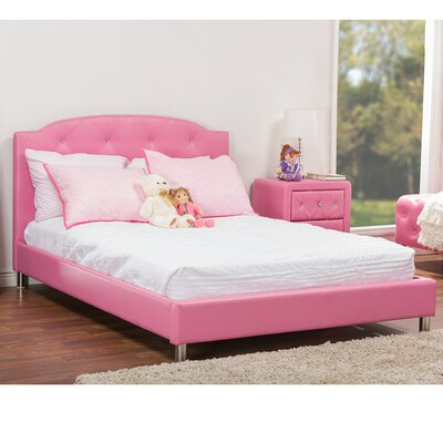 Ruben Upholstered Platform Bed Size: Full, Finish: Pink