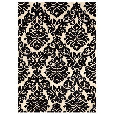 Jasper Hand-Tufted Black/Beige Area Rug Rug Size: 5 x 7