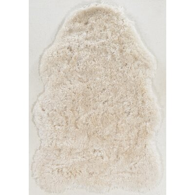 Xanthippe Faux Lamb Skin Hand-Tufted Ivory Area Rug