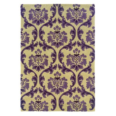 Jasper Hand-Tufted Purple/Beige Area Rug Rug Size: 110 x 210