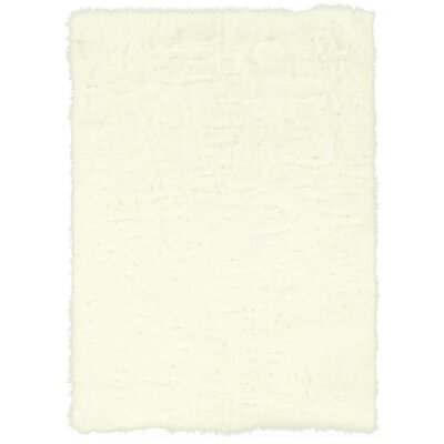 Francille Hand-Tufted Faux Sheepskin White Area Rug Rug Size: Rectangle 5' x 7'