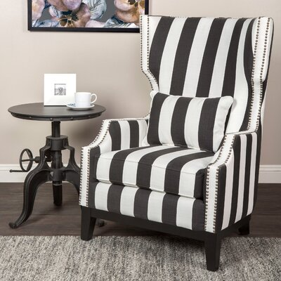 Cairns Stripped Wing back Chair