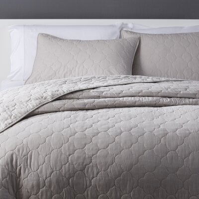Robinett Reversible Coverlet Set Size: Twin, Color: Stone
