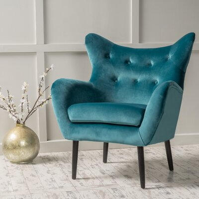 Bouck Wingback Chair Color: Dark Teal
