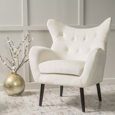 Bouck Wingback Chair Color: Ivory