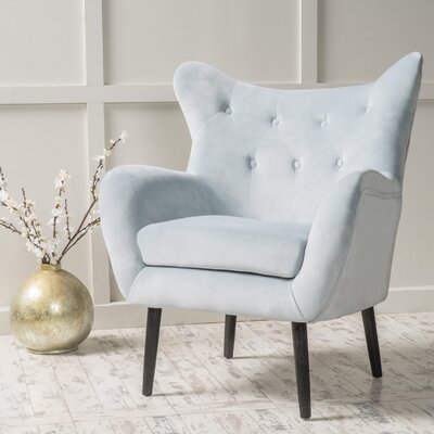 Bouck Wingback Chair Upholstery Color: Light Gray