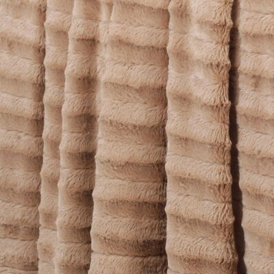 Eisley Double Sided Faux Fur Throw Blanket Color: Taupe
