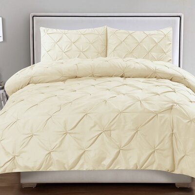 Tamra 3 Piece Comforter Set Color: Cream, Size: King