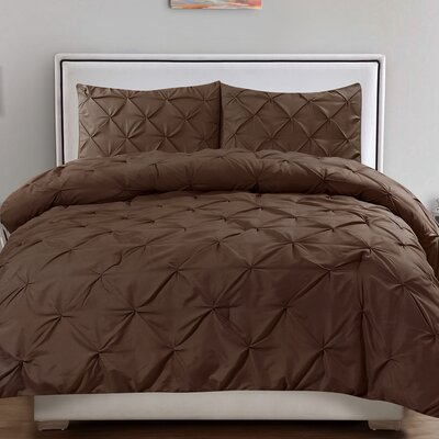 Tamra 3 Piece Comforter Set Color: Chocolate, Size: Full/Queen